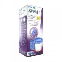 Avent pots de conservation pour lait maternel réutilisables 180 ml 0 mois et + 5 pots