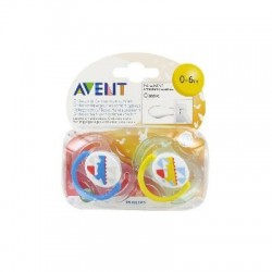 Avent 2 sucettes orthodontiques silicone classic animaux 0 à 6 mois