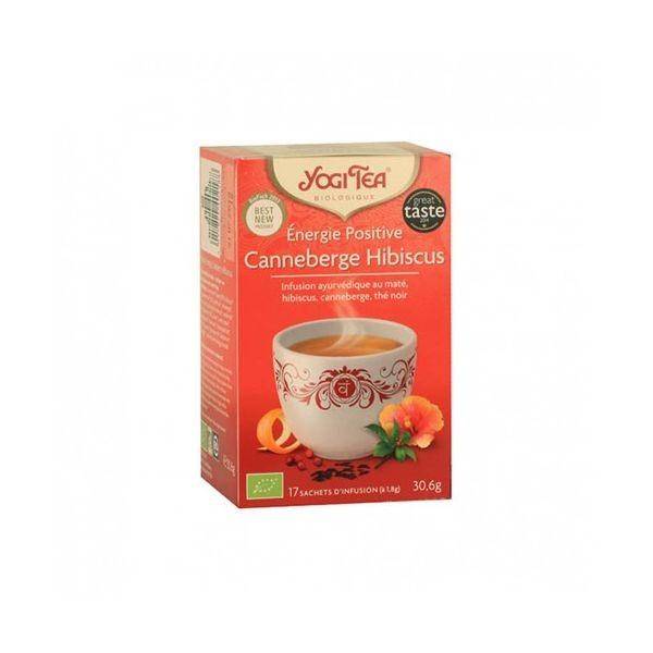 Yogi tea energie positive canneberge hibiscus 17 sachets