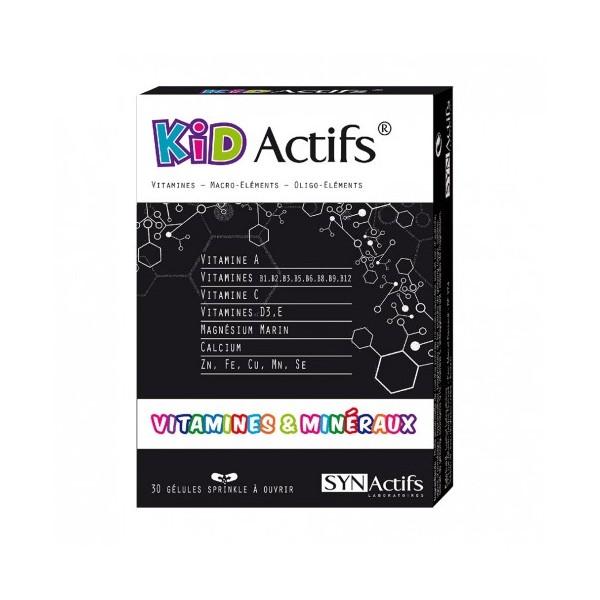 Synactifs kidactifs vitamines et mineraux 30 gélules