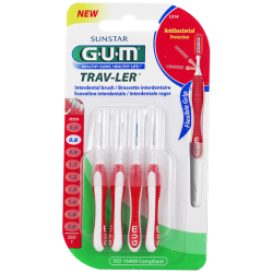 Gum trav-ler - brossettes interdentaires 1314 0,8mm, 4 unités