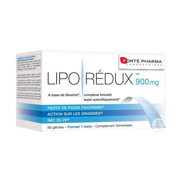 Forté pharma lipo redux 900mg 56 gélules