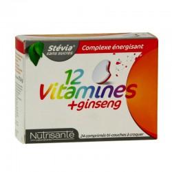 Nutrisanté 12 vitamines + ginseng 24 comprimés