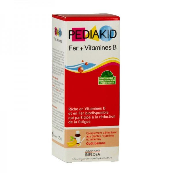 Pédiakid fer et vitamine b sirop 125ml