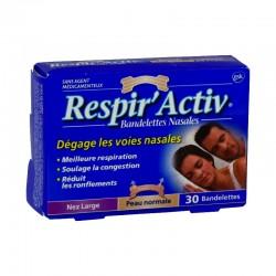 Respir'activ bandelettes nasales nez large x 30