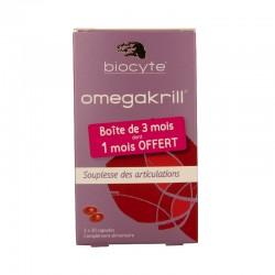 Biocyte omega krill 500mg anti-âge et anti-oxydant 90 capsules