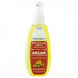 Natessance Huile de Beauté Capillaire Argan et Huiles Précieuses Cheveux Normaux à Secs 150 ml