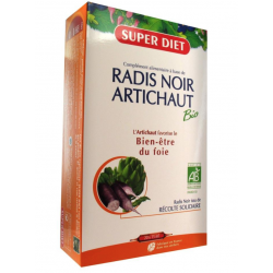 Super Diet Radis Noir Artichaut Bio 20 Ampoules