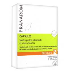 Pranarôm science oléocaps 2 sphère gastro-intestinale et voies urinaires 30 capsules
