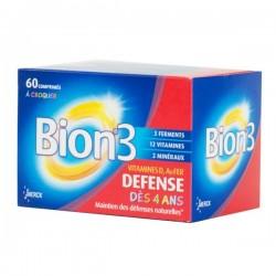 Bion 3 Defense junio 60 comprimés à croquer dès 4 ans