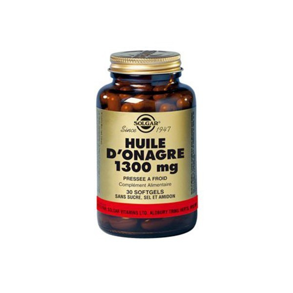 solgar huile d 39 onagre 1300mg 60 g lules pharmacie de fontvieille. Black Bedroom Furniture Sets. Home Design Ideas