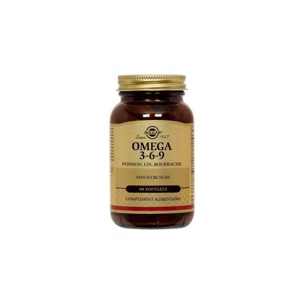 Solgar Omega 3/6/9 poisson lin et bourrache 60 gélules