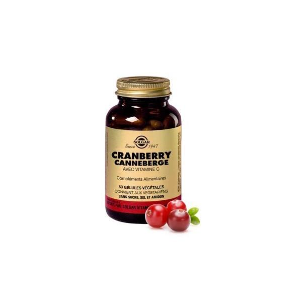 Solgar Cranberry et Canneberge 60 gélules