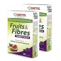 Ortis Fruits&Fibres lot 2x30 comprimés