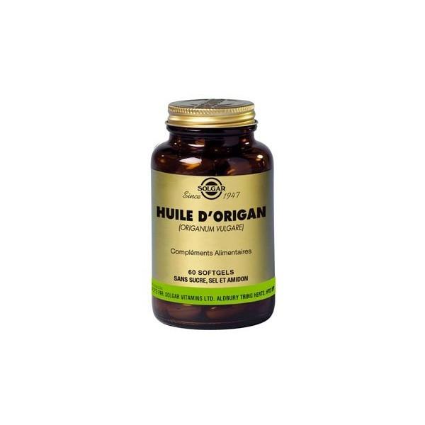 Solgar huile d'origan 60 softgels