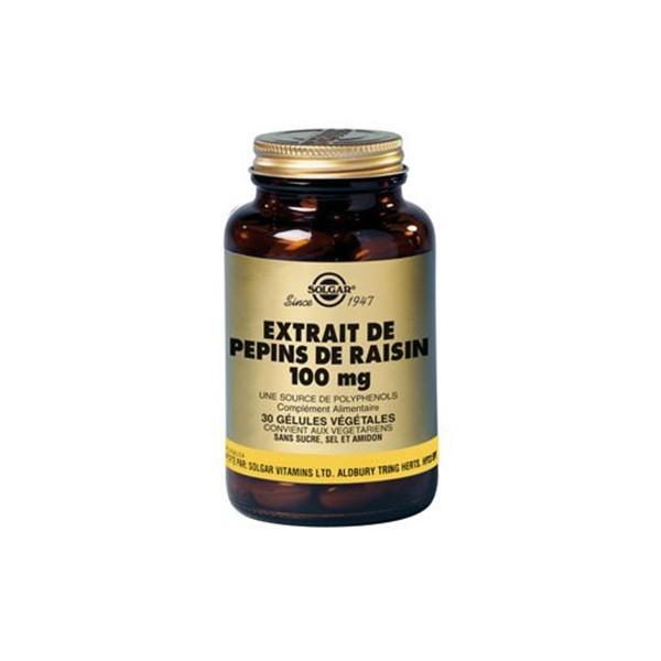 Solgar extrait de pépin de raisin 100mg 30 gélules