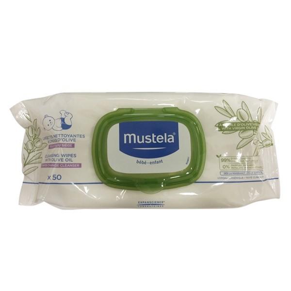 Mustela lingette nettoyante à l'huile d'olive 5O linguettes