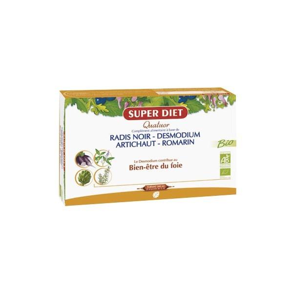 Super diet quatuor bien-être du foie bio 20 ampoules