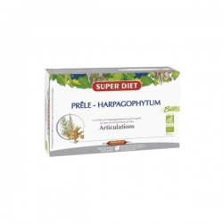 Super diet prêle harpagophytum bio articulations 20 ampoules