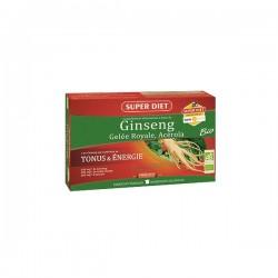 Super diet ginseng gelée royale acérola bio tonus et énergie 20 ampoules