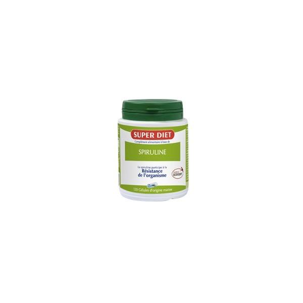 Super diet spiruline ecocert résistance de l'organisme 120 gélules