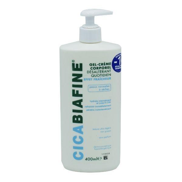 Cicabiafine gel crème corporel désaltérant quotidien 400ml
