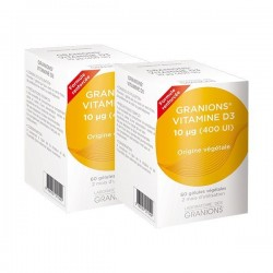 Granions vitamines D3 Lot de 2x60 gélules