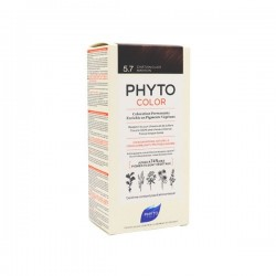 Phyto color Kit de coloration permanente 5.7 châtain clair marron