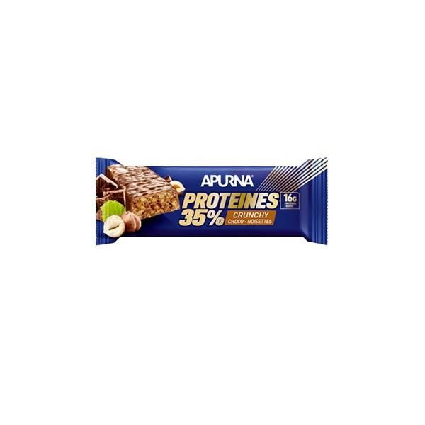 Apurna barre hyperprotéinées crunchy cocho-noisettes 16g