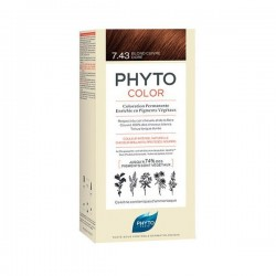 Phyto phytocolor coloration permanente 7.34 blond cuivré doré