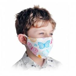 Masque grand public enfant réutilisable motifs papillon
