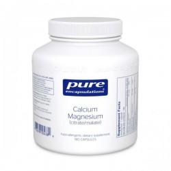 Pure encapsulations calcium magnésium 180 capsules