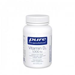 Pure encapsulations vitamine D3 25mcg 1000 UI