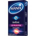 Manix infini le plus fin 12 préservatifs