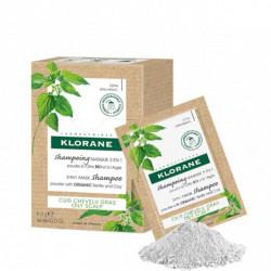 Klorane shampooing masque poudre d'ortie et argile 8X3g