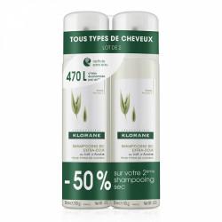 Klorane shampooing sec extra-doux au lait d'avoine 2 x 150ml