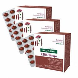 Klorane keratincaps force&vitalité cheveux et ongles 3x30 capsules