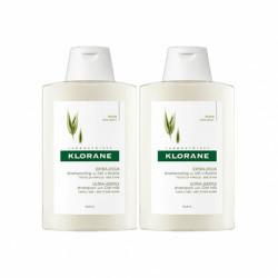 Klorane shampooing extra doux au lait d'avoine 2x400ml