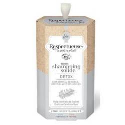 Respectueuse Shampooing Solide Detox Cuire Chevelu sensible, Irrité ou avec Pellicules 75g