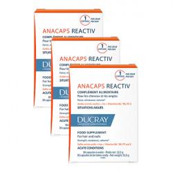 Ducray anacaps reactiv lot de 3 boites de 30 capsules