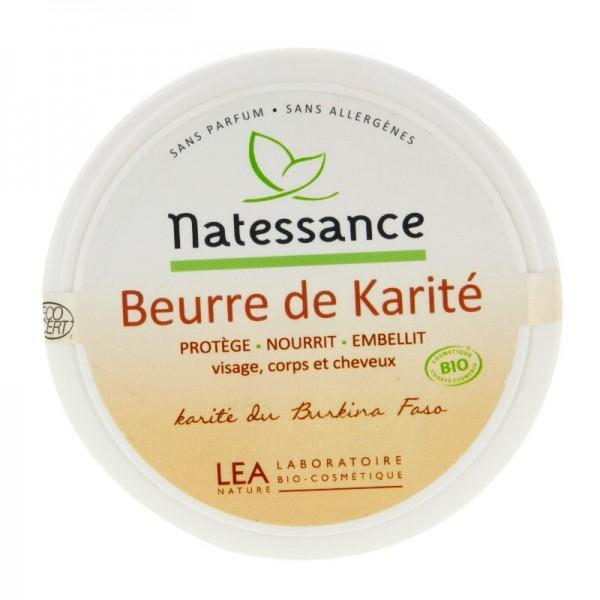 Natessance beurre de karit 100g pharmacie de fontvieille - Beurre de karite utilisation ...