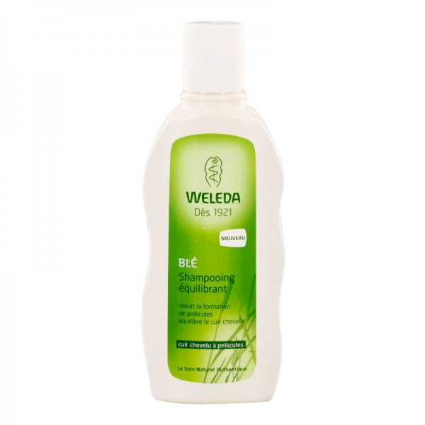Weleda blé shampooing équilibrant cuir chevelu a pellicules 190ml