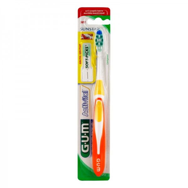 Gum activital brosse à dents souple compacte 581