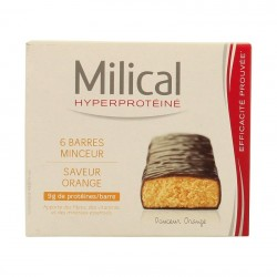 Milical hyperprotéiné chocolat/orange 6 barres