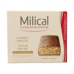 Milical hyperprotéiné praliné 6 barres