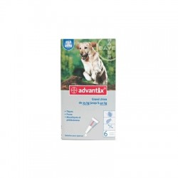 Bayer advantix grand chien 25 à 40 kg 6 pipettes