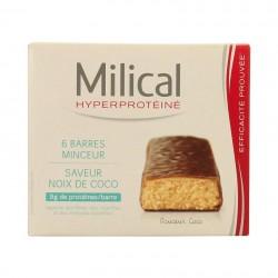 Milical hyperprotéiné coco 6 barres