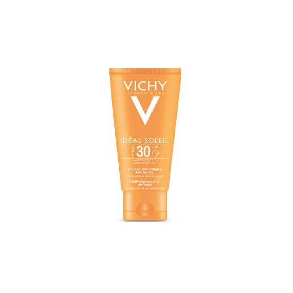 Vichy idéal soleil emulsion toucher sec visage ip30 50 ml