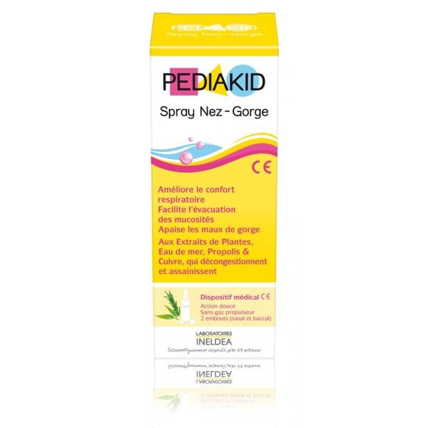 Pediakid spray nez-gorge 2 embouts 20 ml