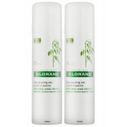 Klorane shampooing sec extra-doux au lait d'avoine spray lot de 2 x 150 ml